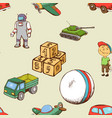 kids toys seamless pattern vector image vector image