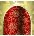 Christmas archway vector image vector image