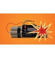 bomb dynamite explosion vector image
