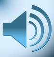loud blue speaker with vibration vector image