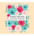 Beautiful Spring design for apparel vector image