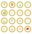 beer icon circle vector image