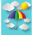 colurful umbrella on sky vector image