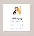 dog 2018 year calendar vector image