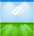 Eco themed room with cloud shaped mirror vector image