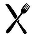 High quality fork and knife logo vector image