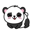 isolated cute panda bear vector image