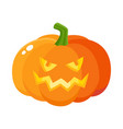 laughing grinning pumpkin jack-o-lantern with vector image