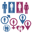 Men and Women Gender Signs vector image