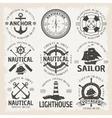 Nautical Emblem Set In Color vector image
