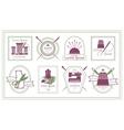 Retro Tailor Labels or Needleworks Emblems vector image