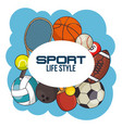 sport equipment concept vector image