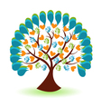 Tree hands and heart logo vector image