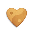 Gingerbread cookie in the shape of a heart vector image vector image