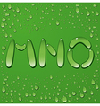 Water drop letters on green background 5 vector image vector image