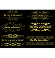 golden frames on black vector image vector image