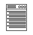 line technology window element and website vector image