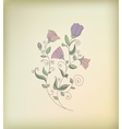 Hand floral greeting card vector image