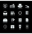 Business office supplies pictograms set vector image