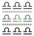 Zodiac Sign Libra Set vector image