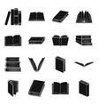 books set icons in black style big collection of vector image
