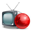 Bowling channel vector image