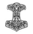 Cartoon image of thor hammer icon vector image