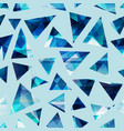 cold color triangles seamless pattern vector image
