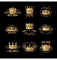 Crown Logo Set vector image