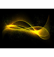Dark glow background with color waves vector image