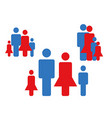 Family icons collection vector image