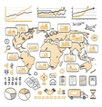 Global business doodle concept vector image