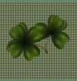 image of leaf clover translucent background in vector image