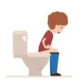 person sick with diarrhea vector image