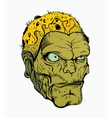 Picture of scary zombie head vector image