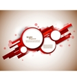Red circles on lines vector image