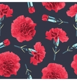 Seamless pattern carnations flowers vector image