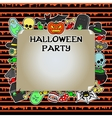 Halloween Party Mock up vector image