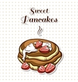 Pancakes With Strawberry vector image