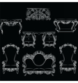 Fabulous Rich Baroque Rococo furniture set vector image