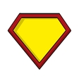 hero shield isolated icon vector image