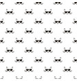 seamless pattern with cats and sunglasses vector image