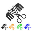 hairdressing tools icon vector image