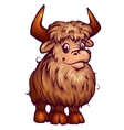 yak in cartoon style vector image