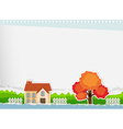 Border design with a house vector image vector image