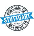 welcome to Stuttgart blue round vintage stamp vector image
