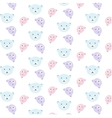 bears pattern set vector image