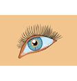 blue female eye vector image