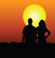 couple in the nature vector image