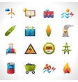 Power Plant Polygonal Icons vector image